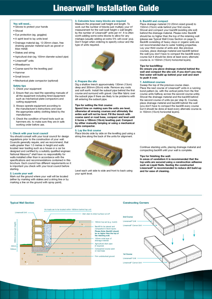 thumbnail of National-Masonry-SQLD-NSW-Brochure-How-to-Lay-Guide-Linearwall-Retaining-Wall